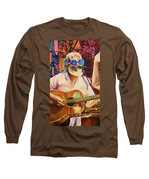 Long Sleeve T-Shirt featuring the painting Bill Nershi At Horning's Hideout by Joshua Morton