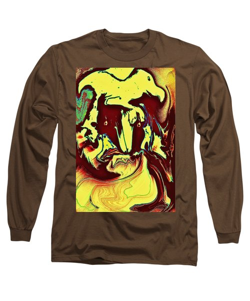 Long Sleeve T-Shirt featuring the photograph Bird On Head by Jason Lees