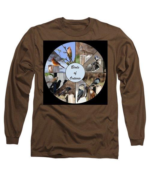 Birds Of Ontario Long Sleeve T-Shirt