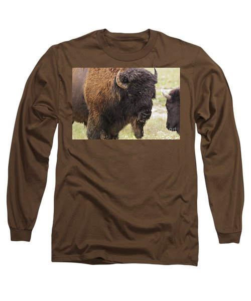 Long Sleeve T-Shirt featuring the photograph Bison From Yellowstone by Belinda Greb