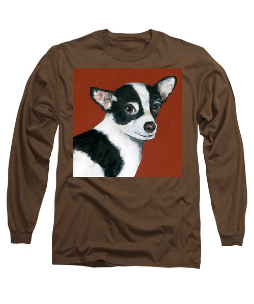 Black And White Chihuahua Long Sleeve T-Shirt