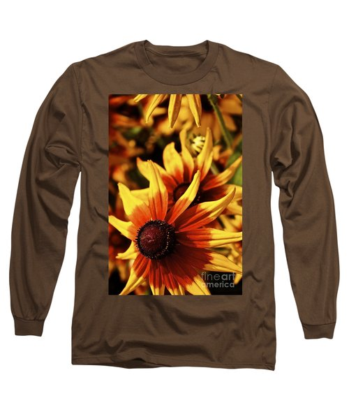 Long Sleeve T-Shirt featuring the photograph Black Eyed Susan by Linda Bianic