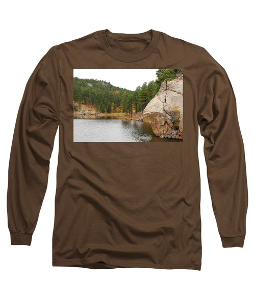 Long Sleeve T-Shirt featuring the photograph Black Hills Lake by Mary Carol Story