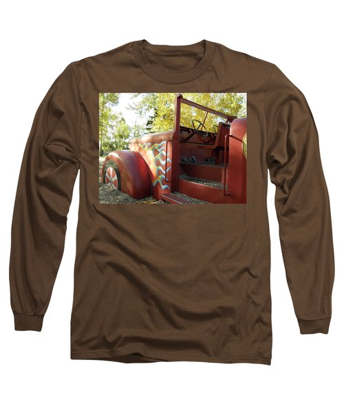 Blazing Red Fire Truck Long Sleeve T-Shirt