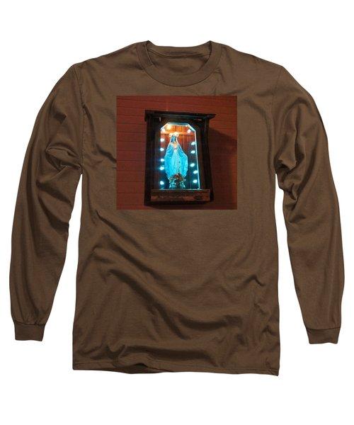 Blessed Mary - New Orleans La - Www.rocknbowl.com Long Sleeve T-Shirt by Deborah Lacoste