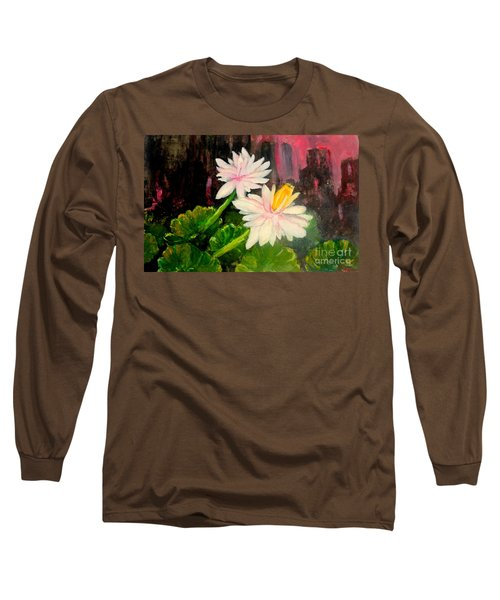 Blooming At Night  Long Sleeve T-Shirt