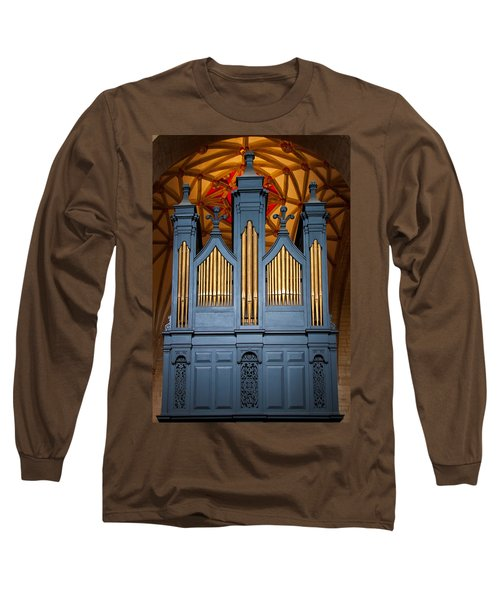 Blue And Gold Music Long Sleeve T-Shirt