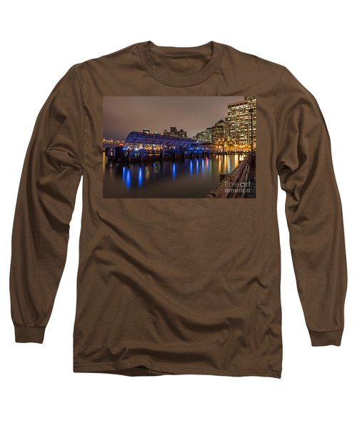 Blue And Gold Night Long Sleeve T-Shirt by Kate Brown