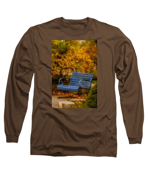 Blue Bench - Autumn - Deer Isle - Maine Long Sleeve T-Shirt