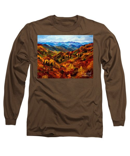 Blue Ridge Mountains In Fall II Long Sleeve T-Shirt