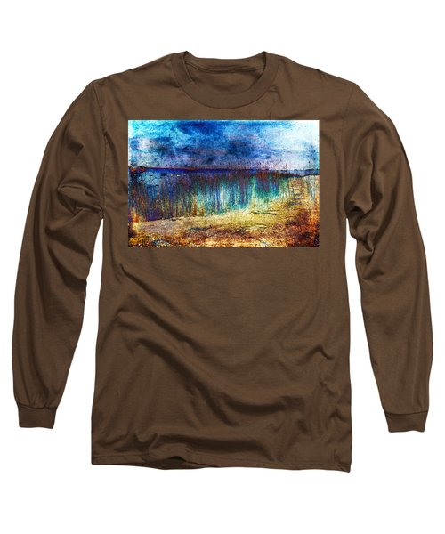 Blue Shore Long Sleeve T-Shirt by Randi Grace Nilsberg