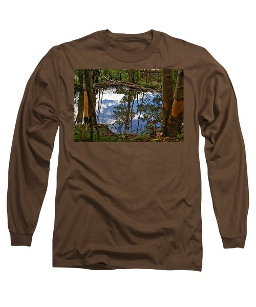 Long Sleeve T-Shirt featuring the photograph Blue Sky Reflecting by Jeremy Rhoades