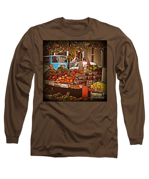 Long Sleeve T-Shirt featuring the photograph Blue Van by Miriam Danar