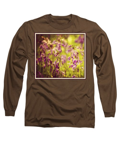 Bluebell In The Woods Long Sleeve T-Shirt by Spikey Mouse Photography
