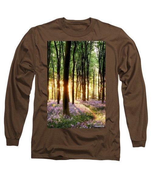 Bluebells In Sunrise Light Long Sleeve T-Shirt