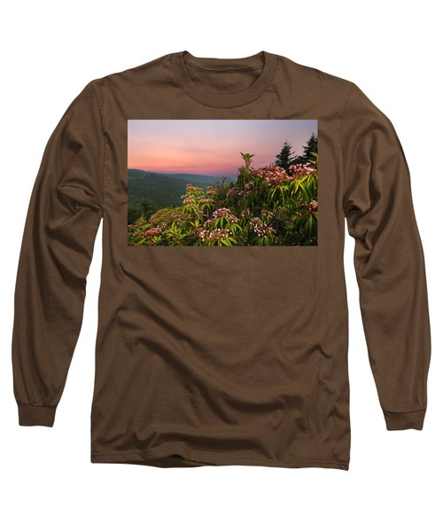 Blueridge Parkway Mountain Laurel Long Sleeve T-Shirt