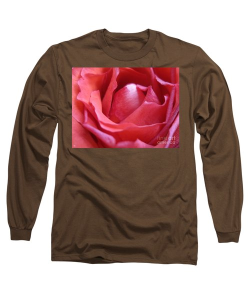 Blushing Pink Rose Long Sleeve T-Shirt