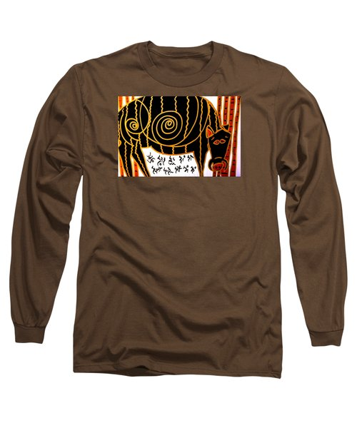 Long Sleeve T-Shirt featuring the painting Boar Totem by Clarity Artists