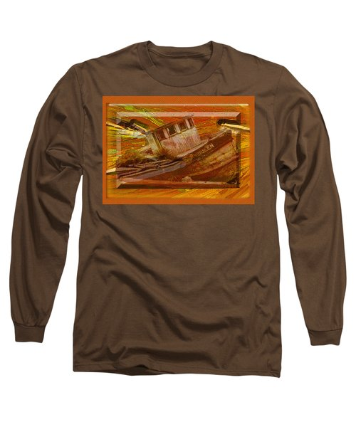 Long Sleeve T-Shirt featuring the photograph Boat On Board by Larry Bishop