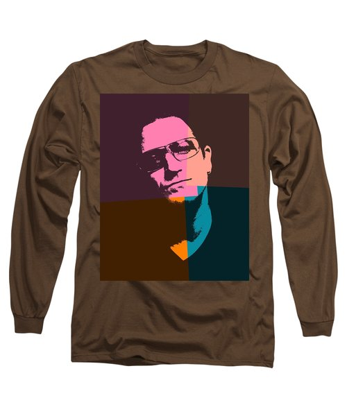 Bono Pop Art Long Sleeve T-Shirt by Dan Sproul