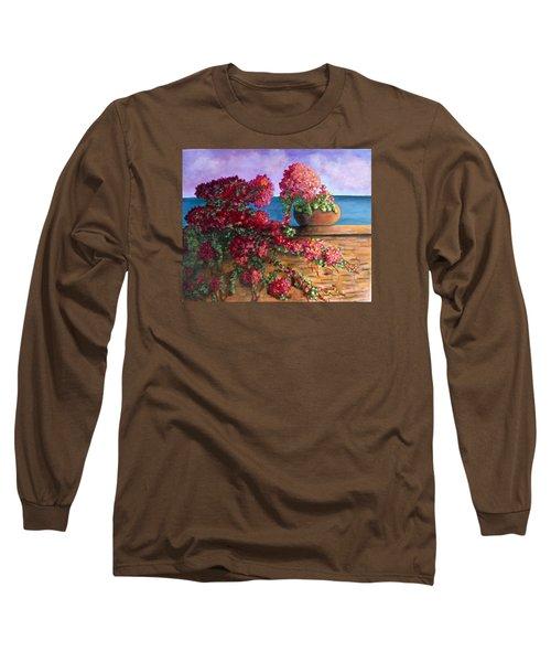 Bountiful Bougainvillea Long Sleeve T-Shirt by Laurie Morgan