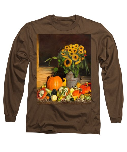Bountiful Harvest - Floral Painting Long Sleeve T-Shirt