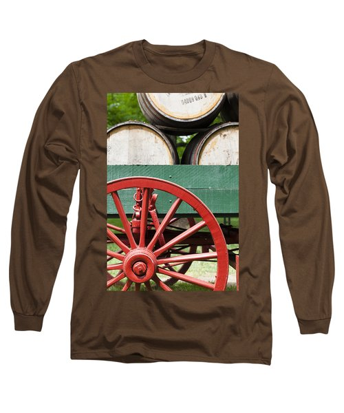 Bourbon Wagon Long Sleeve T-Shirt by Alexey Stiop