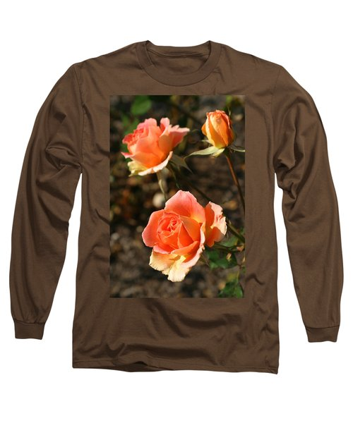 Brass Band Roses In Autumn Long Sleeve T-Shirt