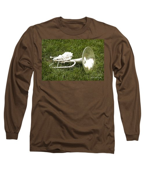Long Sleeve T-Shirt featuring the photograph Brass In Grass by Carol Lynn Coronios