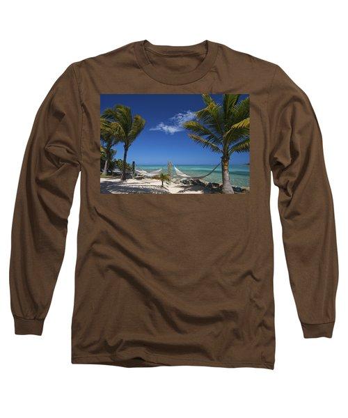 Breezy Island Life Long Sleeve T-Shirt by Adam Romanowicz