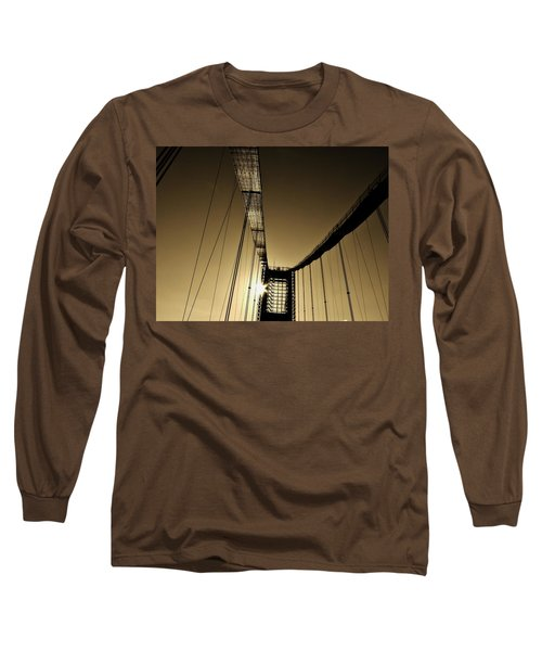 Bridge Work Long Sleeve T-Shirt by Robert Geary