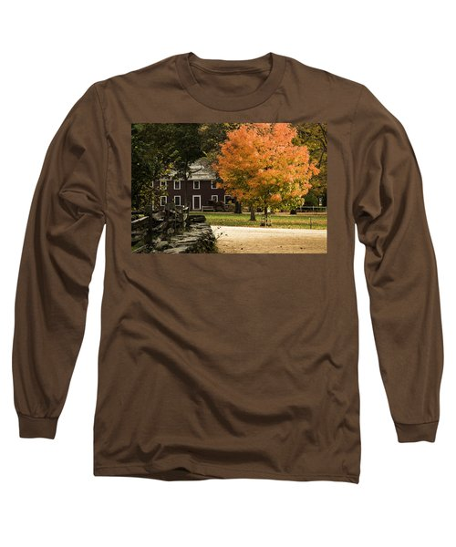 Long Sleeve T-Shirt featuring the photograph Bright Orange Autumn by Jeff Folger