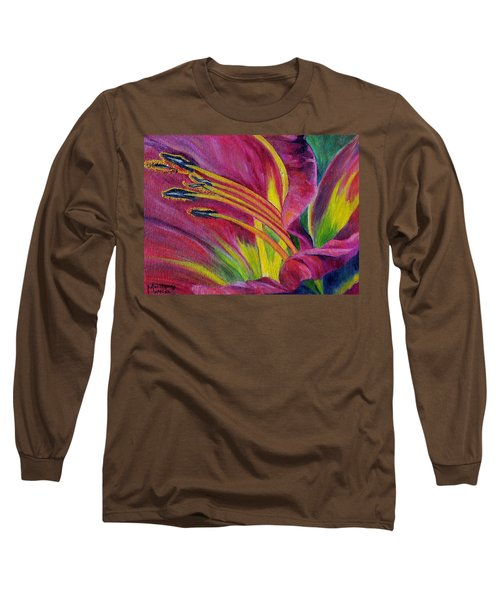 Long Sleeve T-Shirt featuring the painting Brilliance Within by Marilyn  McNish