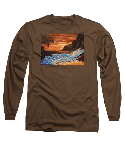 Brilliant Hawaiian Sunset 1 Long Sleeve T-Shirt