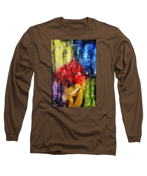 Long Sleeve T-Shirt featuring the painting Broken 4 by Michael Cross