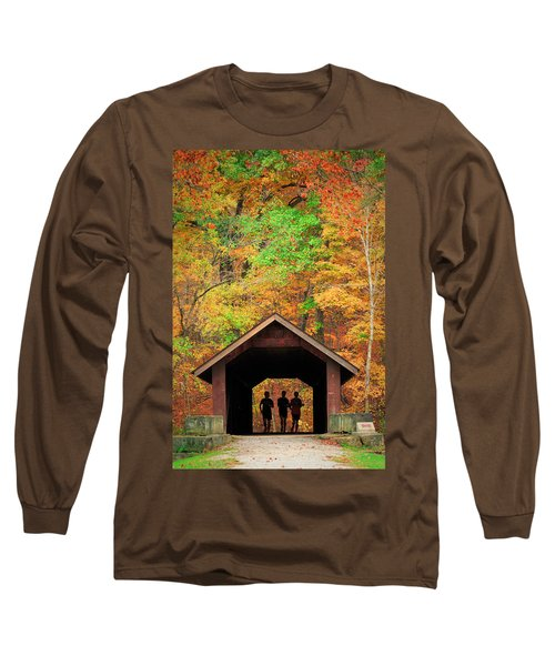 Brush Creek Covered Bridge Long Sleeve T-Shirt