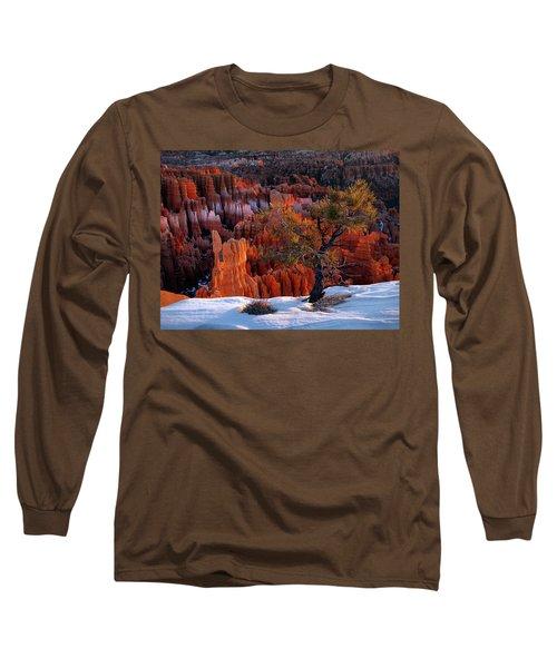 Bryce Canyon Winter Light Long Sleeve T-Shirt by Leland D Howard