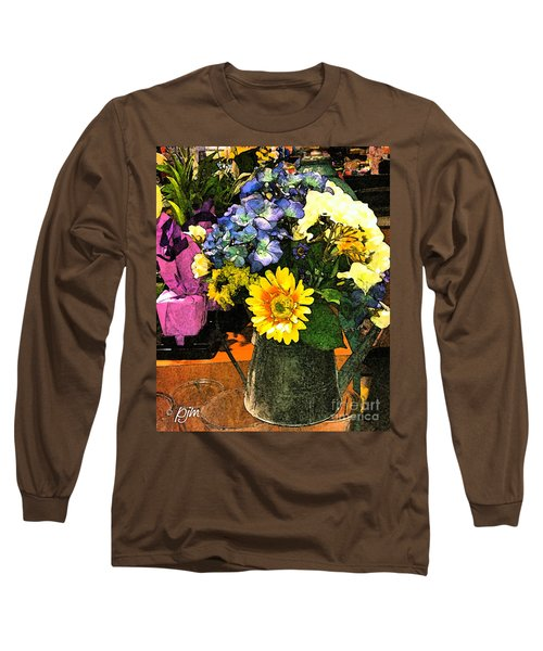 Bucket Of Flowers Long Sleeve T-Shirt