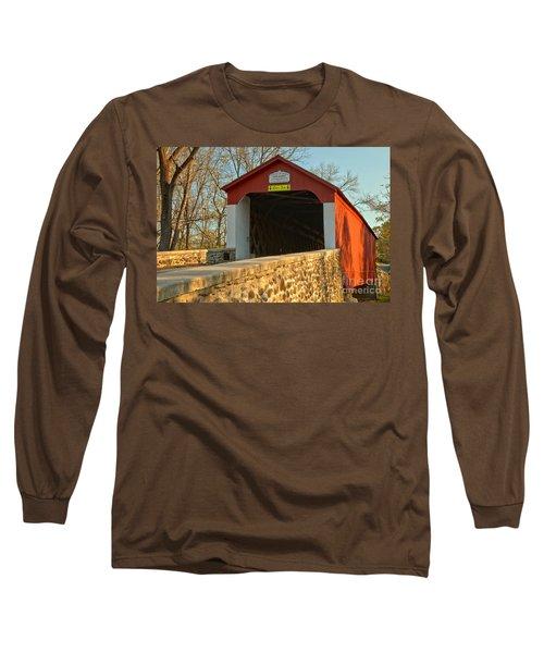 Bucks County Van Sant Covered Bridge Long Sleeve T-Shirt