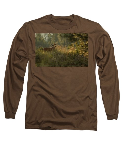 Bucks In Velvet Long Sleeve T-Shirt by Loni Collins