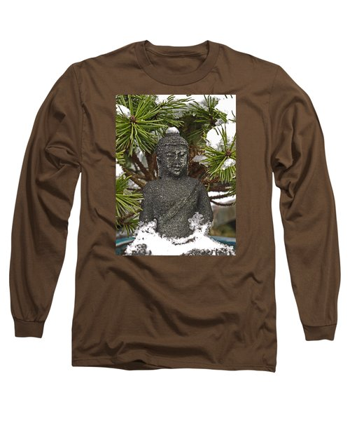 Buddha In The Snow Long Sleeve T-Shirt