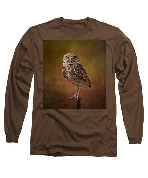 Burrowing Owl Portrait Long Sleeve T-Shirt