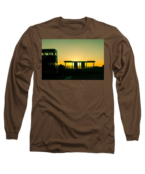 Bus Stop At Sunset Long Sleeve T-Shirt