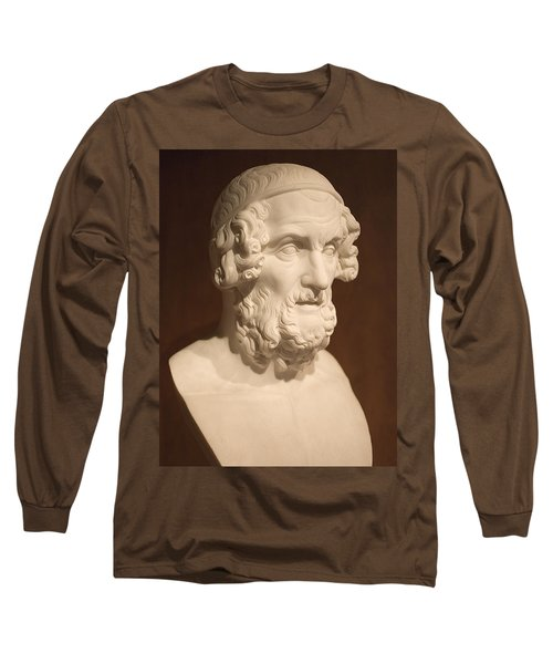 Long Sleeve T-Shirt featuring the photograph Bust Of Homer by Mark Greenberg