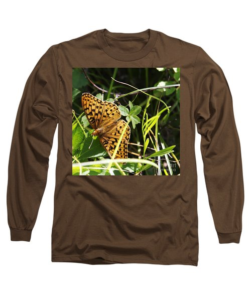 Long Sleeve T-Shirt featuring the photograph Butterfly At Signal Mountain by Belinda Greb