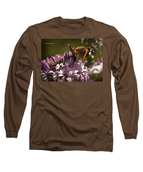 Long Sleeve T-Shirt featuring the photograph Butterfly Close Up by Stwayne Keubrick