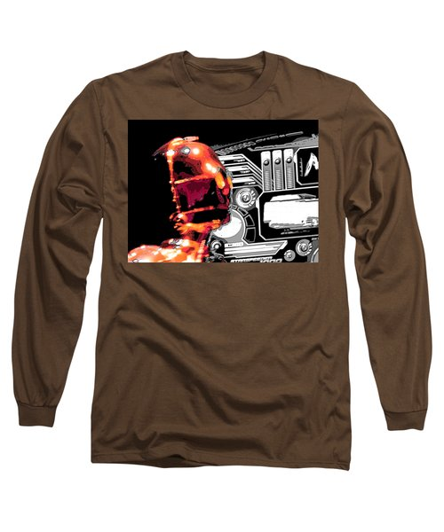 Long Sleeve T-Shirt featuring the digital art C3po by J Anthony