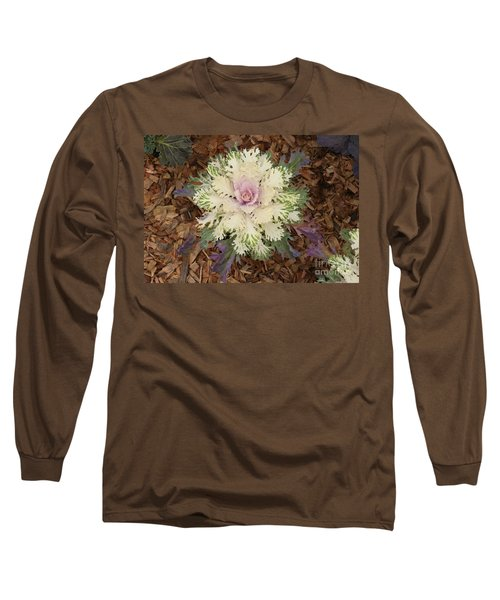 Long Sleeve T-Shirt featuring the photograph Cabbage Rose by Victoria Harrington