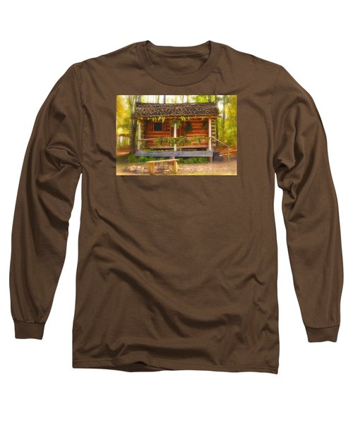 Cabin Christmas Long Sleeve T-Shirt by Nadalyn Larsen