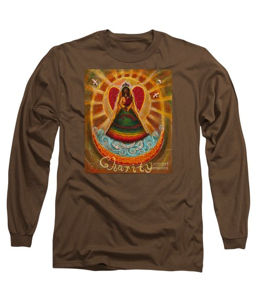 Long Sleeve T-Shirt featuring the painting Cachita Madonna by Deborha Kerr
